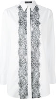 Dolce & Gabbana lace bib shirt - women - Cotton/Polyamide/Viscose - 38