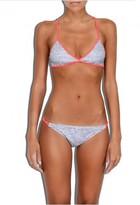 Milly Cabana Melange Jersey Print X-Back Bikini Top