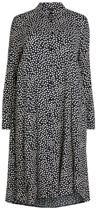 Marina Rinaldi Polka-Dot Crepe Midi Dress