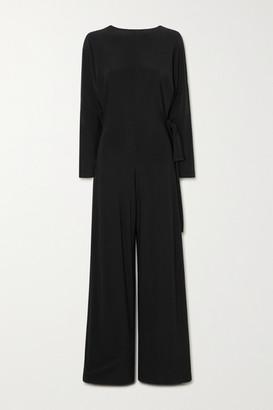 Norma Kamali Belted Stretch-jersey Jumpsuit - Black
