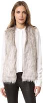 Cupcakes And Cashmere Rosette Faux Fur Vest