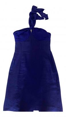 Max Mara Blue Linen Dresses
