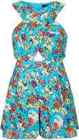 Topshop Meadow floral cross over playsuit