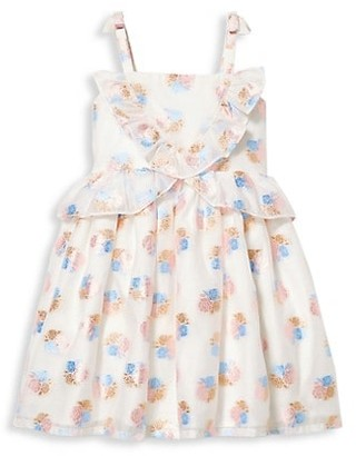 Janie and Jack Baby's, Little Girl's & Girl's Ruffle Floral Jacquard Dress