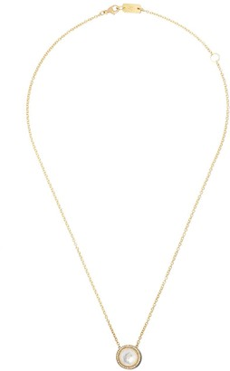 Ippolita 18kt yellow gold and blue ceramic short Lollipop Carnevale crystal and diamond pendant necklace