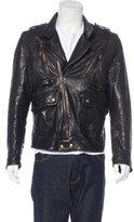 Just Cavalli Leather Moto Jacket