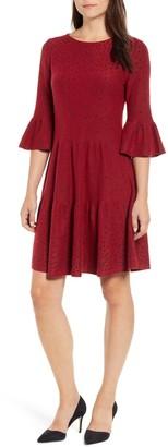 Nic+Zoe NIC + ZOE Celestial Stud Bell Sleeve Dress