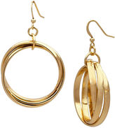 Boutique + The Gold-Tone Criss-Cross Hoop Earrings