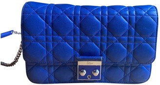 Christian Dior Miss Blue Leather Handbags