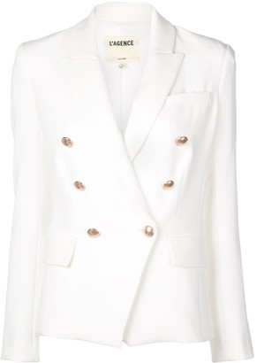 L'Agence Classic Double-Breasted Blazer