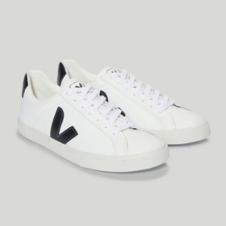 The White Company Veja Esplar Leather Trainers, Black, 37