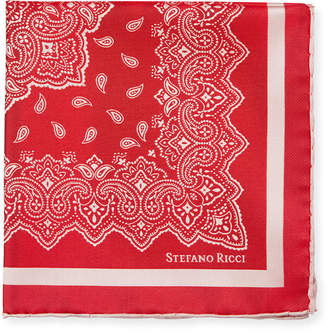 Stefano Ricci Bandana-Pattern Silk Pocket Square