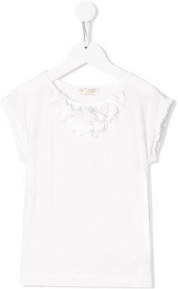 MonnaLisa Floral Applique Top