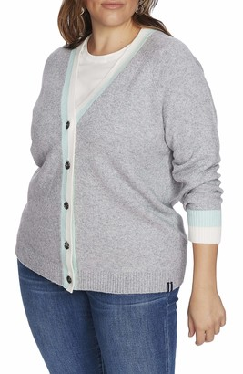 Court & Rowe Kenmare Cardigan Sweater in Silver Hthr Size 1X