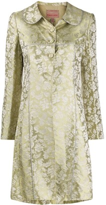 Romeo Gigli Pre Owned SS 1997 floral jacquard coat