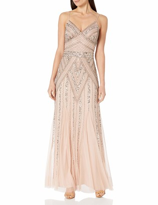 Marina Women's Beaded Gown with Godets