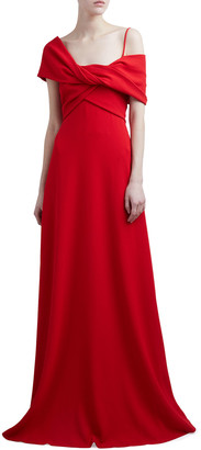 Giambattista Valli Twisted Off-the-Shoulder Jersey Gown