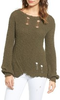 Pam & Gela Women's Shredded Sweater