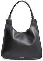 Lodis Blair Collection - Dara Italian Leather Hobo - Grey