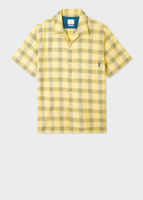 Paul Smith Men's Classic-Fit Yellow Check Short-Sleeve Shirt