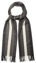 Neil Barrett Striped cashmere scarf