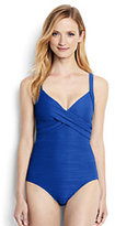 Classic Women's Long Sweetheart One Piece Swimsuit-Calypso Blue
