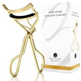 Brilliant Beauty Eyelash Curler - Award Winning - With Satin Bag & Refill Pads - No Pinching, Just Dramatically Curled Eyelashes & Lash Line in Seconds. Get Gorgeous Eye Lashes Now!