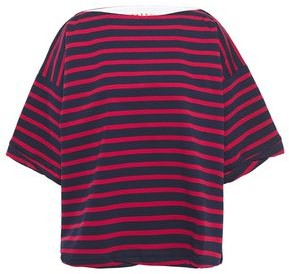Marni Oversized Striped Cotton-jersey T-shirt