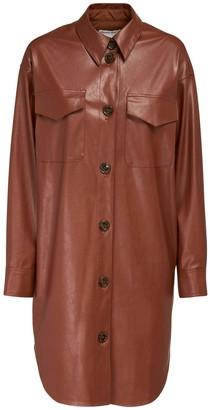 Designers Remix Marie Faux Leather Shirt Dress