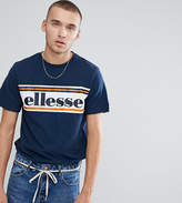 Ellesse T-Shirt With Logo Panel In Navy