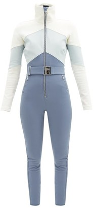 Cordova Alta Chevron-panelled Soft-shell Ski Suit - Blue White
