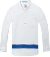 Scotch & Soda Cotton-Linen Kaftan Shirt