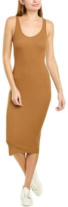 Enza Costa Ribbed Tank Silk-Blend Midi Dress