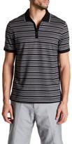 Calvin Klein Stripe Cutaway Collar Polo