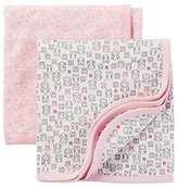 Carter's Precious Firsts Baby Girls' 2 Pack Owl Swaddle Blankets- Pink