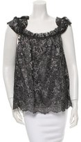 Anna Sui Lace Metallic-Accented Top