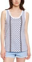 Manoush Women's Asymmetric Animal print Sleeveless T-Shirt - - 8