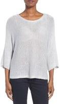 Eileen Fisher Shimmer Linen Blend Chain Stitch Sweater (Regular & Petite)