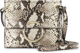 Karen Millen Small Leather O-ring Satchel - Snake Print