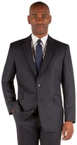 Centaur Big & Tall Navy Birdseye 2 Button Front Big And Tall Regular Fit Suit Jacket
