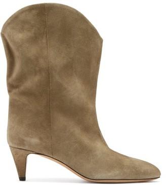 Isabel Marant Dernee Point-toe Suede Ankle Boots - Beige