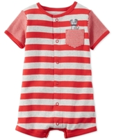 Carter's Striped Dog Romper, Baby Boys (0-24 months)