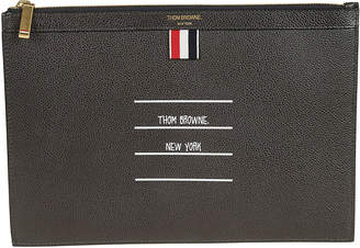 Thom Browne Small Gusset Zipper Tablet Clutch