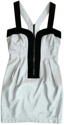 American Retro Grey Leather Dress for Women