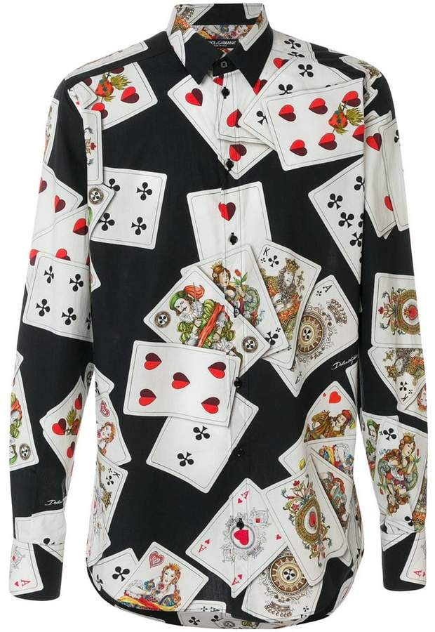 Dolce & Gabbana Playing Cards print shirt