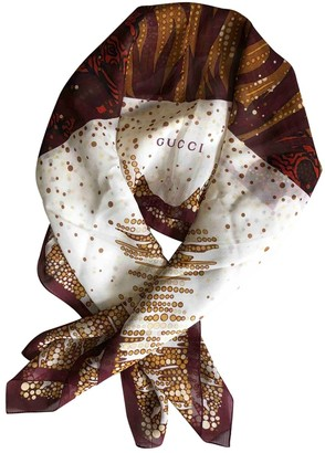 Gucci Burgundy Viscose Scarves