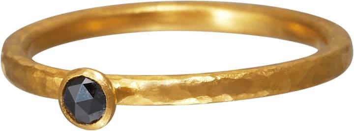 Gurhan Stacking Skittle Black Diamond Ring