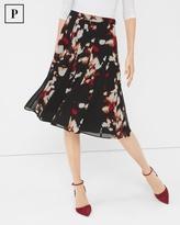 White House Black Market Petite Printed Full Skirt