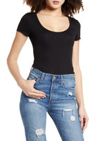 Leith Scoop Neck Ribbed Bodysuit