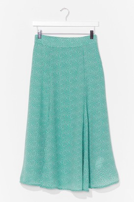 Nasty Gal Womens Put 'Em On the Spot High-Waisted Midi Skirt - Green